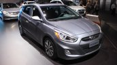2015 Hyundai Accent front three quarters at the 2014 Los Angeles Auto Show