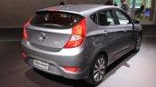 2015 Hyundai Accent rear three quarter at the 2014 Los Angeles Auto Show