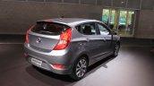 2015 Hyundai Accent rear three quarters at the 2014 Los Angeles Auto Show