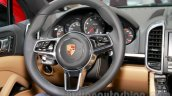 2015 Porsche Cayenne Facelift steering at the 2014 Guangzhou Auto Show
