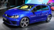 2015 VW Golf R front three quarters left at the 2014 Los Angeles Auto Show