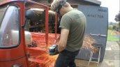 Bajaj RE with Honda CBR600RR fabrication
