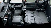 Daihatsu Wake seats folded
