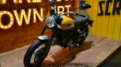 Ducati Scrambler yellow at the 2014 Thailand International Motor Expo