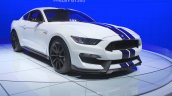 Ford Shelby GT350 Mustang front three quarters left at the 2014 Los Angeles Auto Show