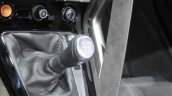 Jaguar F-Type manual transmission variant gear lever at the 2014 Los Angeles Auto Show