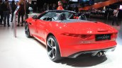 Jaguar F-Type manual transmission variant rear three quarters left at the 2014 Los Angeles Auto Show