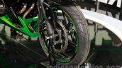 Kawasaki Z300 front wheel at the EICMA 2014
