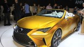 Lexus LF-C2 concept front three quarters right at the 2014 Los Angeles Auto Show