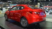 Mazda2 Sedan rear three quarters left