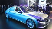 Mercedes-Maybach S600 front three quarter at the 2014 Los Angeles Auto Show