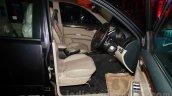 Mitsubishi Pajero Sport AT front seats at the Indian launch