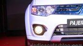 Mitsubishi Pajero Sport AT headlamp and foglamp at the Indian launch