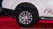 Mitsubishi Pajero Sport AT rear wheel at the Indian launch