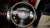 Mitsubishi Pajero Sport AT steering wheel at the Indian launch