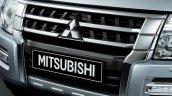 Mitsubishi Pajero facelift grille