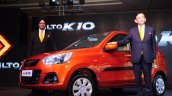 Mr RS Kalsi, Executive Director, Marketing and Sales, Maruti Suzuki with Mr Kenichi Ayukawa, MD and CEO, Maruti Suzuki at the Alto K10 launch