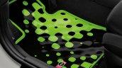 New Mini Cooper S with John Cooper Works package green floor mat