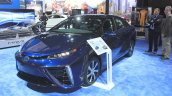 Toyota Mirai front three quarters right at the 2014 Los Angeles Auto Show