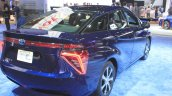 Toyota Mirai rear three quarters right at the 2014 Los Angeles Auto Show