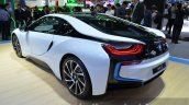 2015 BMW i8 rear three quarters at the 2014 Thailand Motor Expo