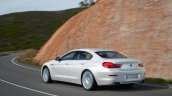 2016 BMW 6 Series Gran Coupe rear left three quarter
