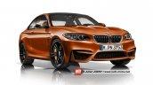 2016 BMW M2 rendering front three quarters