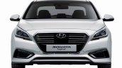 2015 Hyundai Sonata Hybrid front press shot