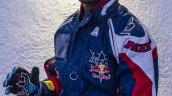 CS Santhosh with racing suit