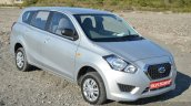 Datsun Go+ front three quarters Review
