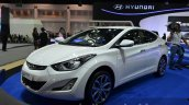 Hyundai Elantra facelift front three quarter at the 2014 Thailand International Motor Expo