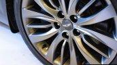 Hyundai Genesis alloy wheel at Autocar Performance Show 2015