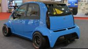 JA Motorsport Tata Super Nano rear three quarter at 2014 APS