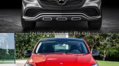 Mercedes Concept Coupe Vs Mercedes GLE Coupe front