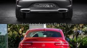 Mercedes Concept Coupe Vs Mercedes GLE Coupe rear