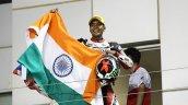 Sarath Kumar at Honda Asia Dream Cup 2014 with flag