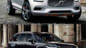 Volvo XC Coupe Concept Vs 2015 Volvo XC90 front three quarter