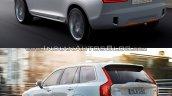 Volvo XC Coupe Concept Vs 2015 Volvo XC90 rear three quarter