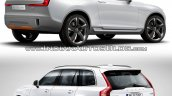 Volvo XC Coupe Concept Vs 2015 Volvo XC90 rear