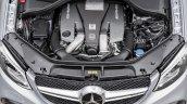 2015 Mercedes AMG GLE63 S Coupe engine bay