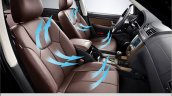 2015 Ssangyong Rexton W front seats