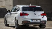 2016 BMW 1 Series facelift rear three quarter