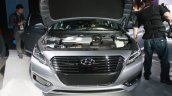2016 Hyundai Sonata Plug in Hybrid front at the 2015 Detroit Auto Show