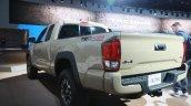 2016 Toyota Tacoma rear three quarter at the 2015 Detroit Auto Show