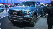 2017 Ford F-150 Raptor front three quarters at the 2015 Detroit Auto Show