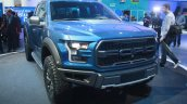 2017 Ford F-150 Raptor front three quarters left at the 2015 Detroit Auto Show