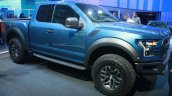 2017 Ford F-150 Raptor front three-quarters left at the 2015 Detroit Auto Show