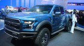 2017 Ford F-150 Raptor front three quarters view at the 2015 Detroit Auto Show