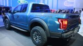 2017 Ford F-150 Raptor rear three quarters at the 2015 Detroit Auto Show