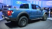 2017 Ford F-150 Raptor rear three quarters right at the 2015 Detroit Auto Show